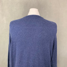 Load image into Gallery viewer, HACKETT Mens Cashmere Blend Navy Blue V-Neck JUMPER - Size XXL 2XL