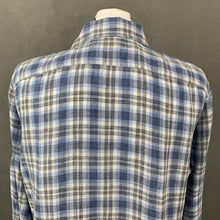 Load image into Gallery viewer, CANALI Mens Blue 100% Linen Check Pattern SHIRT - Size XL Extra Large