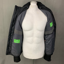 "Load image into Gallery viewer, HUGO BOSS Mens Black PRIMALOFT COAT / JACKET Size L LARGE - 40"" Chest - IT 50"