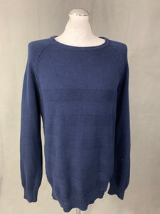 JACK WILLS Mens Navy Blue Crew Neck JUMPER - Size LARGE L