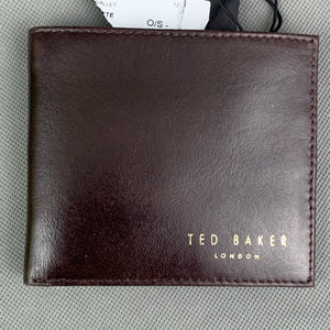 New TED BAKER Mens FHILS Chocolate Brown Leather WALLET