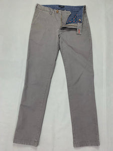 "TED BAKER Mens SORCOR Grey Tapered Leg TROUSERS Size 32R Waist 32"" Leg 32"""