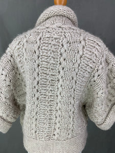 NICOLE FARHI Ladies Super-Chunky Knit Alpaca Blend Cardigan Size Small S
