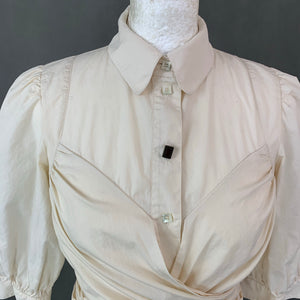 KENZO Ladies Ivory Waist Tie SHIRT - Size FR 38 - UK 10