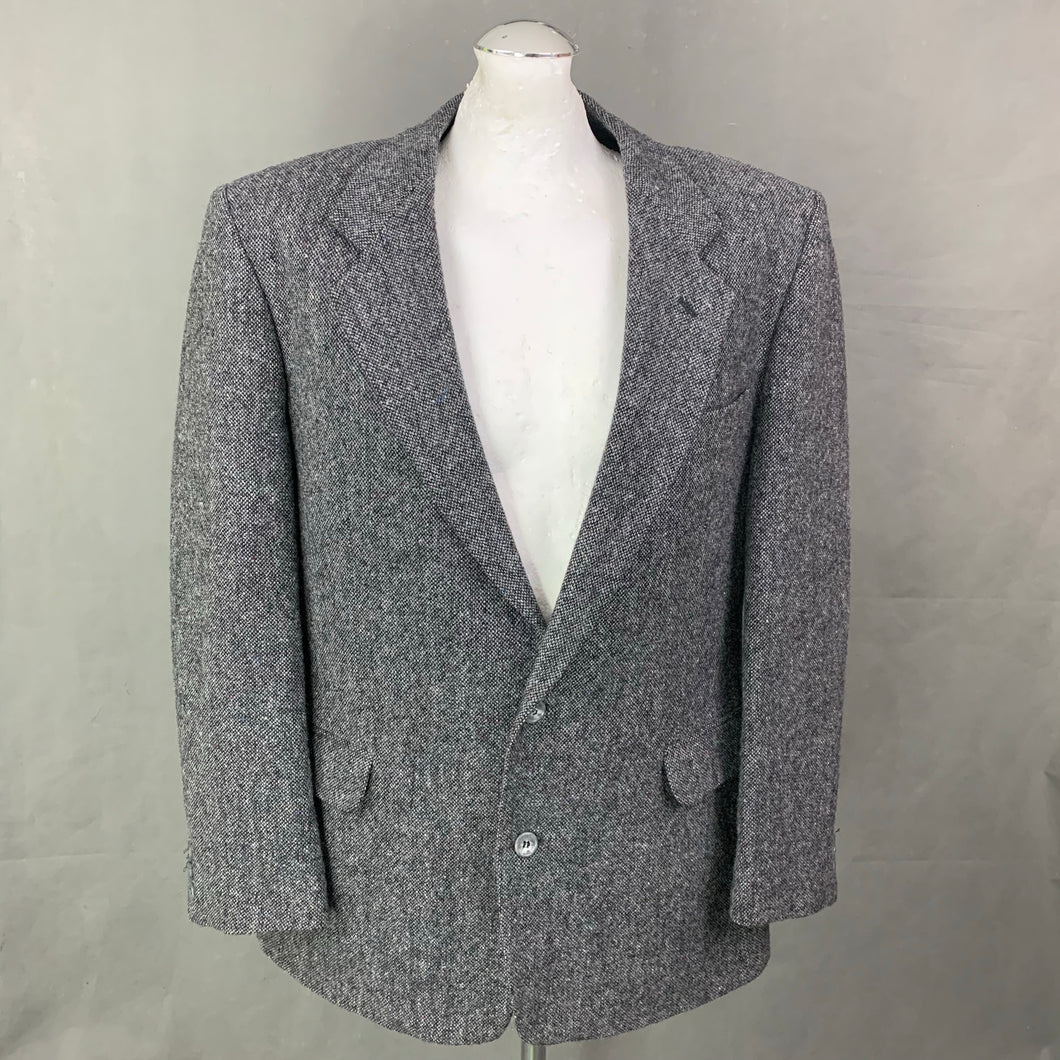 DUNN &Co DONEGAL TWEED Mens Grey BLAZER / JACKET Size 42R - 42