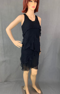 CHLOÉ Ladies Black Silk DRESS - Size UK 8 - US 4 - See by Chloe