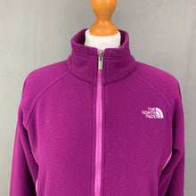 Load image into Gallery viewer, THE NORTH FACE Ladies Purple Zip Fasten FLEECE JACKET - Size Medium M