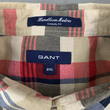 Load image into Gallery viewer, GANT Mens HANDLOOM MADRAS Casual Fit SHIRT - Size 2XL XXL