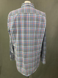 HUGO BOSS Mens Check Pattern Long Sleeved SHIRT - Size 2XL XXL