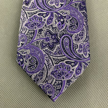 Load image into Gallery viewer, New TED BAKER Mens PIGEON Purple PAISLEY JACQUARD TIE - BNWT