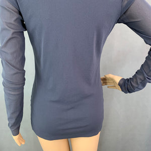 D.EXTERIOR Ladies Grey Long Sleeved TOP - Size Small - S