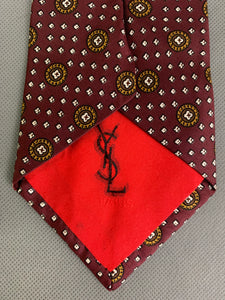 YVES SAINT LAURENT Paris Mens 100% SILK TIE