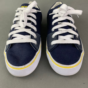 POLO Ralph Lauren Blue Canvas CROFTON-NE TRAINERS / SHOES Size UK 8 - EU 42