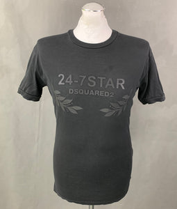 DSQUARED2 Mens Black Crew Neck T-SHIRT Size Small S - TEE / TSHIRT