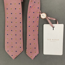 Load image into Gallery viewer, New TED BAKER Mens SPOTLIGHT Red 100% Silk Dot Pattern TIE - BNWT
