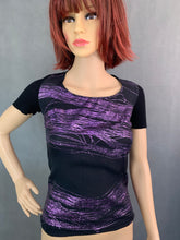 Load image into Gallery viewer, New VERSACE Ladies GEO GLITTER Black Silk Top - Size IT 40 - UK 8 BNWT