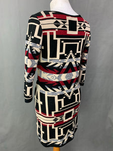 RALPH LAUREN Ladies Geometric DRESS Size LARGE L