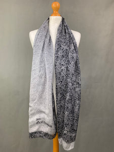 JOHN GALLIANO 100% SILK Grey SCARF - 173cm x 65cm - Made in Italy
