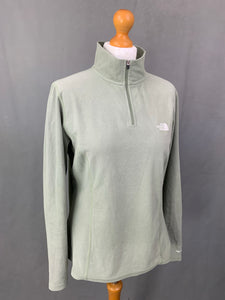 THE NORTH FACE Ladies TKA100 Green FLEECE TOP - Size L LARGE