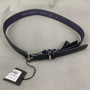 "New TED BAKER Black JOLLENT 100% Cow Leather BELT - Size 30"" Waist"
