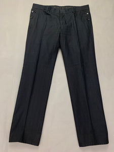 "GUCCI Mens Black Tapered Leg TROUSERS Size IT 52 R - Waist 38"" - Leg 32"""