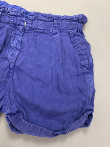 ISABEL MARANT ÉTOILE Ladies Blue Linen SHORTS Size 1 - UK 8