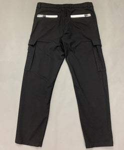 "HUGO BOSS & MERCEDES Mens Black Cargo TROUSERS Size Waist 32"" - Leg 29"""