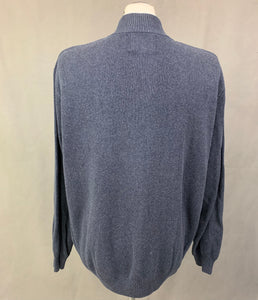 OSPREY by GRAEME ELLISDON LUXURY KNITWEAR Blue JUMPER Size L Large
