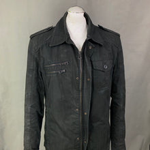 "Load image into Gallery viewer, HUGO BOSS Mens Black ONAY-W COAT / JACKET Size MEDIUM M 38"" Chest - IT 48"