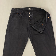 "Load image into Gallery viewer, PS PAUL SMITH Mens Black Denim JEANS Size 36R - Waist 36"" - Leg 32"""