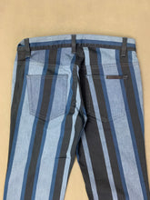Load image into Gallery viewer, DOLCE&GABBANA Ladies Black & Blue Striped Denim Jeans - Size IT 38 - UK 6