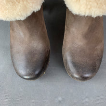 Load image into Gallery viewer, UGG AUSTRALIA Brown Mid Heel Sheepskin Trimmed Ankle BOOTS Size EU 38 - UK 5.5 - US 7 UGGS