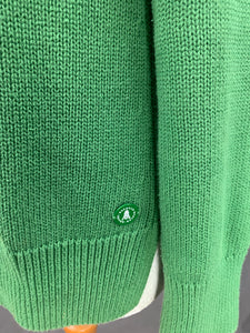 BARBOUR Ladies Green LOWMOORE KNIT JUMPER - Size MEDIUM M