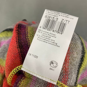 MARC CAIN Ladies Colourful Striped Mohair Blend CARDIGAN Size N4 - UK 14