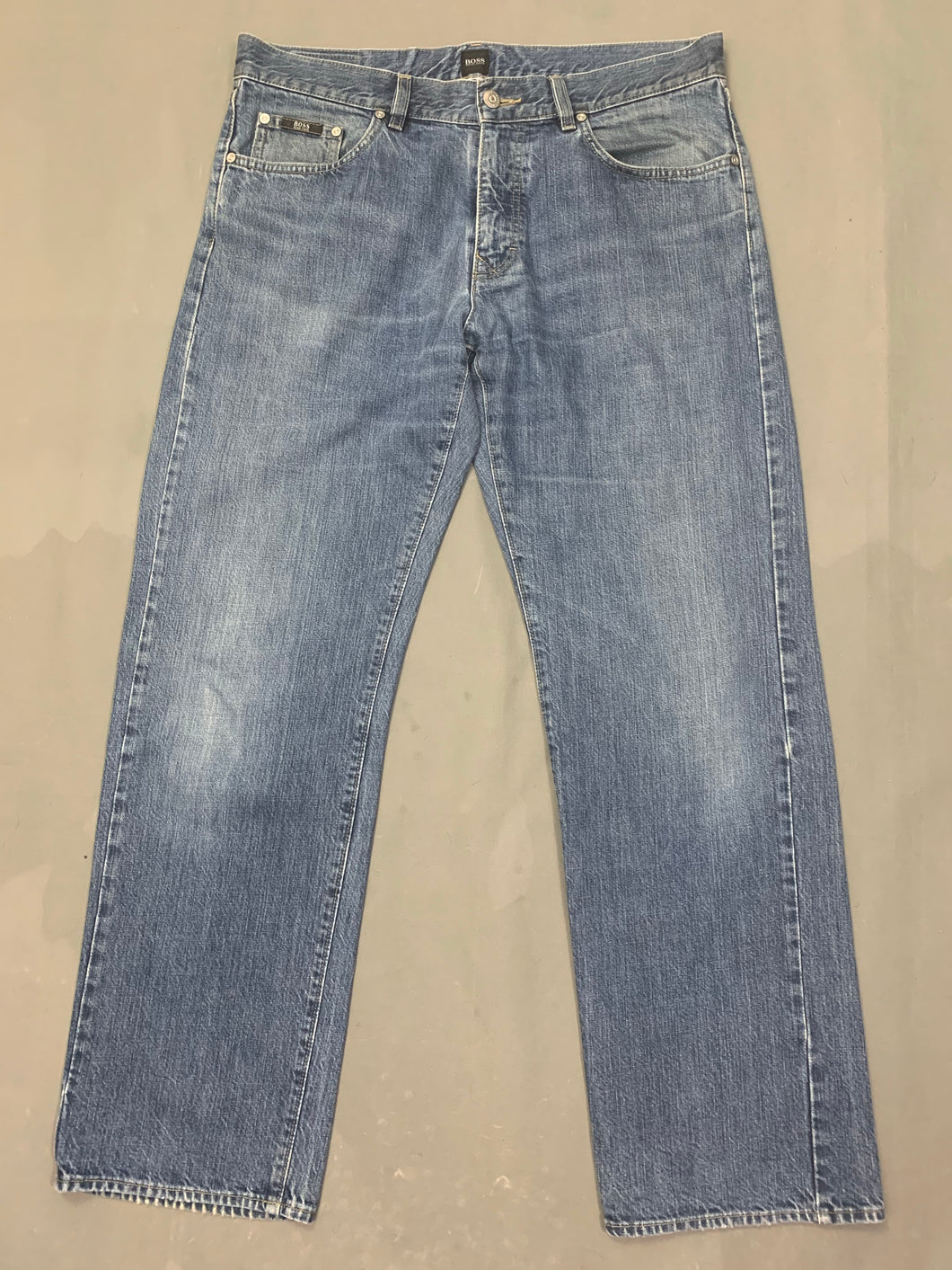 HUGO BOSS Mens ARKANSAS1 Blue Denim JEANS Size Waist 36
