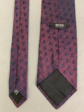 Load image into Gallery viewer, BOSS HUGO BOSS Mens Purple 100% SILK TIE - Made in Italy
