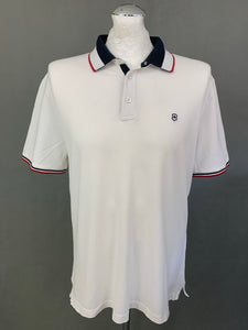 VICTORINOX Mens White Short Sleeved POLO SHIRT - Size Large L
