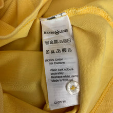 Load image into Gallery viewer, HENRI LLOYD Ladies Yellow Cotton Short Sleeved DRESS Size XS - UK 8
