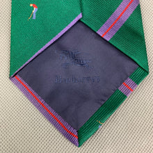 Load image into Gallery viewer, Vintage BURBERRYS Mens Green 100% SILK Golf Graphic TIE - Made in England