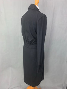 MAXMARA Ladies Black Wool DRESS Size UK 10 - IT 42 - MAX MARA