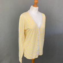 Load image into Gallery viewer, PS PAUL SMITH Ladies Yellow Striped CARDIGAN - Size M Medium