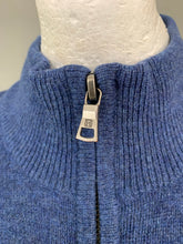 Load image into Gallery viewer, HACKETT Mens Blue 100% Lambswool Zip Neck JUMPER - Size XXXL 3XL