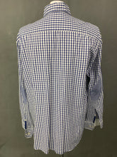 Load image into Gallery viewer, HACKETT Mens SLIM FIT Blue Check SHIRT Size XXL 2XL