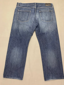 "LACOSTE Mens Blue Denim Tapered Leg JEANS Size IT 58 - UK 40"" - Leg 29"""
