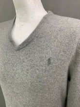 Load image into Gallery viewer, POLO RALPH LAUREN Mens MERINO WOOL V-Neck JUMPER Size L Large