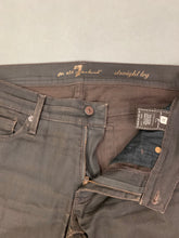 "Load image into Gallery viewer, 7 FOR ALL MANKIND Ladies Denim Straight Leg JEANS Size Waist 32"" Leg 30"" 7FAM"