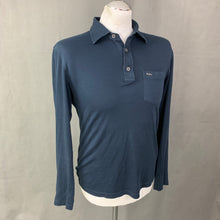 Load image into Gallery viewer, MICHAEL KORS Mens Blue Slim Fit Long Sleeved POLO SHIRT Size S - Small