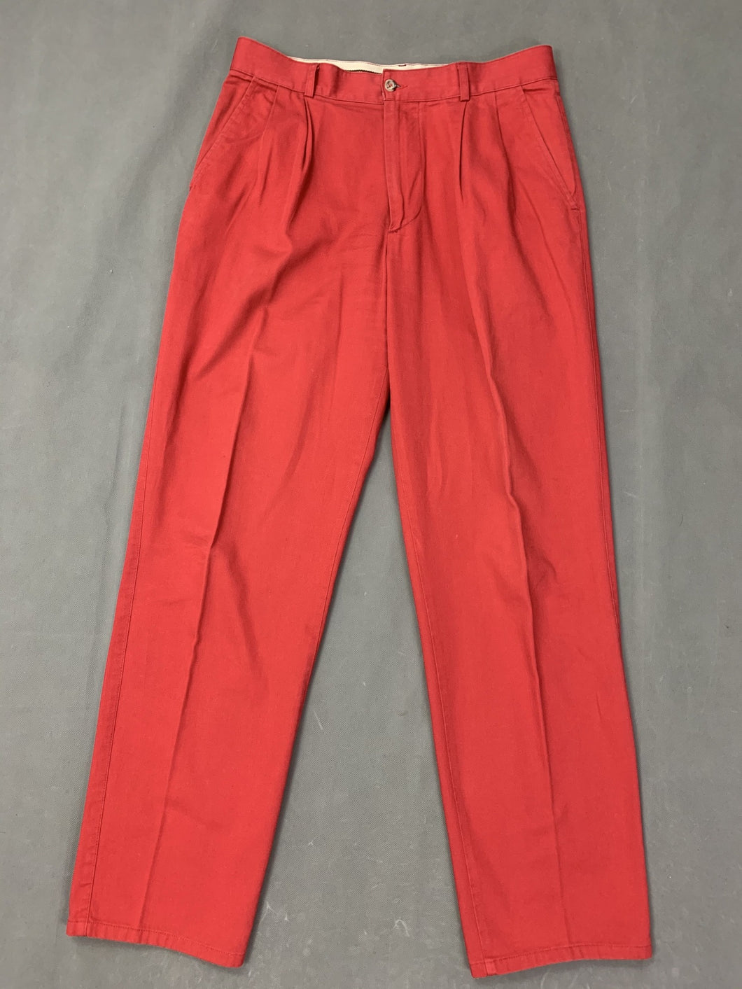 Vintage AQUASCUTUM Mens Red TROUSERS Size Waist 32