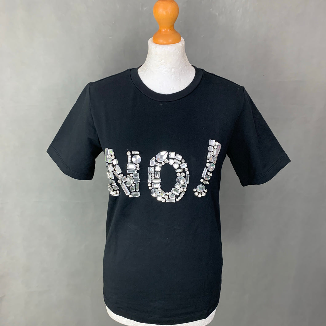 MO&Co Ladies Black NO! T-SHIRT - Size XS - TEE TSHIRT