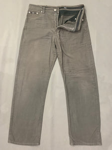 "HUGO BOSS Mens ALABAMA Grey Denim Tapered Leg JEANS Size Waist 34"" - Leg 30"""